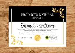 Certificado Prod. Natural